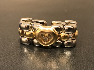 CHOPARD ショパール ハッピーダイヤモンド 1Pダイヤモンド ステンレス ゴールド ブランドジュエリー買取