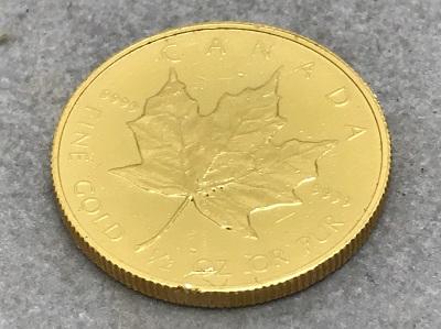 K24 純金 メイプルリーフ金貨 1/2OZ コイン 地金 高価買取 七条店