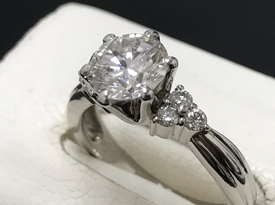 ダイヤモンド 1.051ct リング Pt900 プラチナ 宝石 高価買取 七条店