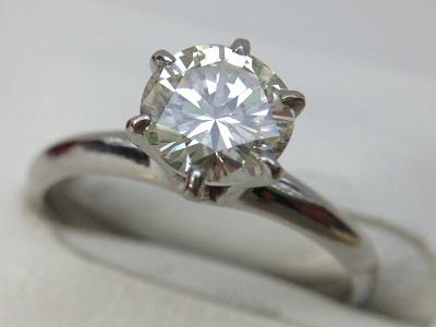 ダイヤモンドリング 1.21ct ラウンドブリリアントカット PT900 ダイヤモンド買取 三宮 元町 神戸