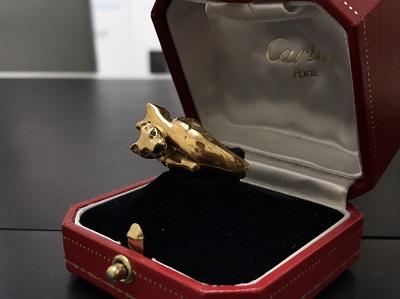 Cartier カルティエ ツインパンサーリング 750YG イエローゴールド ジュエリー 高価買取 七条店