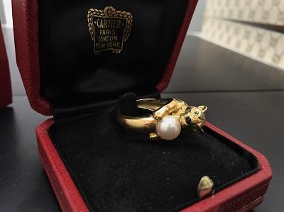 Cartier カルティエ パンテールヴェドラ・パールリング 750YG イエローゴールド ジュエリー 高価買取 七条店