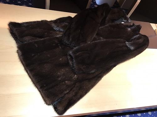 毛皮 ロングコート ミンク ブラウン 高級品 レディース 北山店 松ヶ崎 下鴨 お買取り品