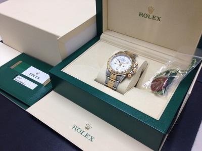 ROLEX ロレックス デイトナ Ref.116523 コンビ クロノグラフ 腕時計 高価買取 七条店