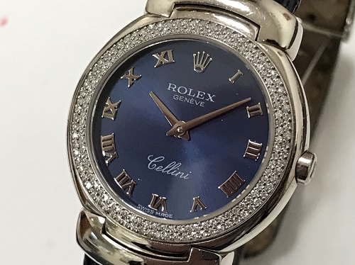 ロレックス(ROLEX)チェリーニ アンティーク 750ホワイトゴールド ダイヤモンドベゼル