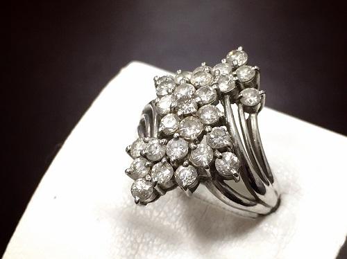 プラチナリング Pt900 メレダイヤモンド 2.01ct  貴金属 宝石