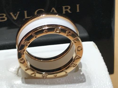 ブルガリ(BVLGARI) リング 指輪 B-ZERO セラミック ゴールド ジュエリー
