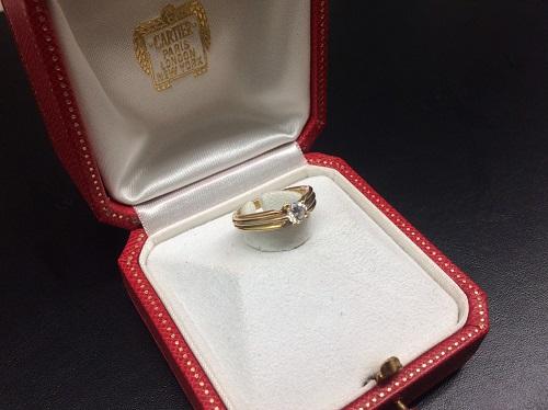 カルティエ(Cartier) スリーカラーダイヤリング 750 4.0g 出張買取