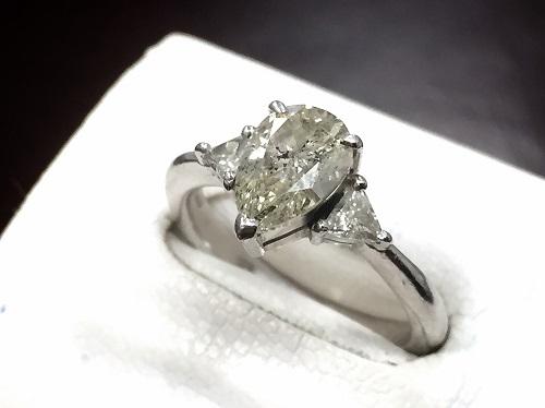 ダイヤモンドプラチナリング買取 Pt900 1.402ct ダイヤモンド買取MARUKA