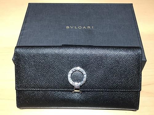 ブルガリ(BVLGARI)長財布 レザー ブラック ロゴマーク 使用品 北山店 高価買取 左京区 リサイクル