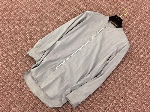 ルイ・ヴィトン(LOUIS VUITTON) ノーカラーシャツ コットン ♯M 七条 買取