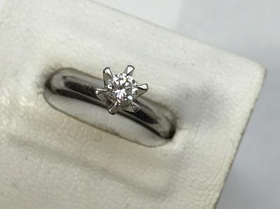 プラチナダイヤモンド リング ラウンドブリリアントカット 0.26ct ダイヤモンド 買取 三宮 元町 神戸