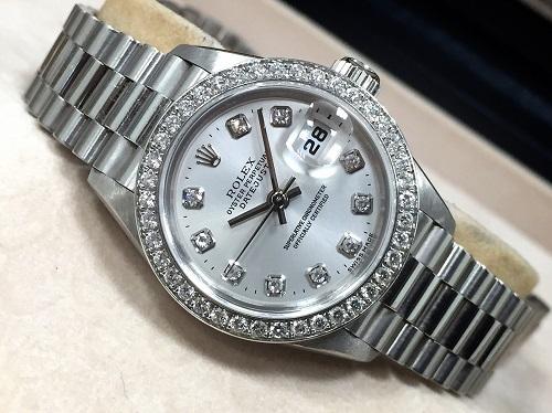 ロレックス(ROLEX) レディースデイトジャスト 69136G プラチナ Pt950 ダイヤモンド