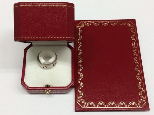 カルティエ(Cartier) ラブリング 750WG 10.2g 四条 買取