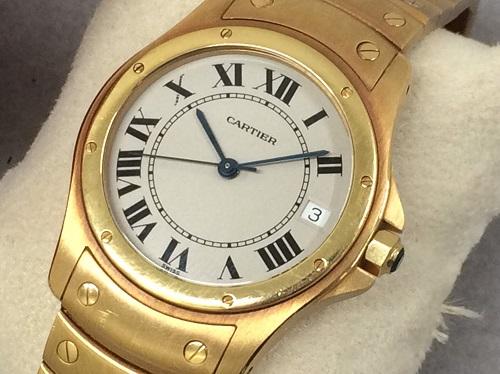 カルティエ(cartier) サントスクーガー 750 金無垢 買取 渋谷 時計