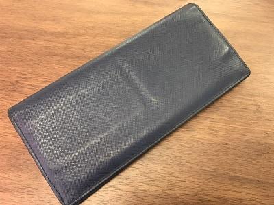 プラダ(PRADA) 二つ折り長財布 サフィアーノ ネイビー プラダ買取 三宮 元町 神戸