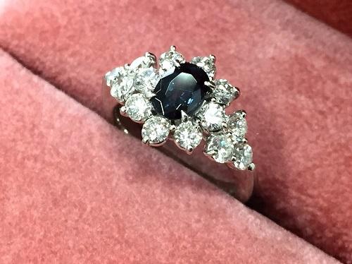プラチナリング Pt900 アレキサンドライト 0.942ct ダイヤモンド 1.13ct 宝石