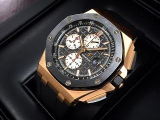 オーデマピゲ 時計 ロイヤルオークオフショアクロノRef.26401RO.OO.A002CA.01 PG×ラバー