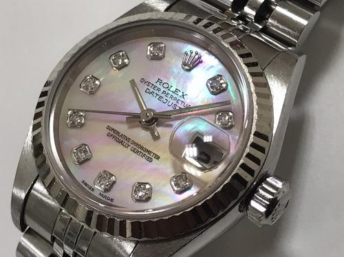 ロレックス(ROLEX) デイトジャスト 69174NG SS×750WG U番 シェル ダイヤモンド