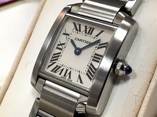 カルティエ(CARTIER) タンクフランセーズSM SS 時計