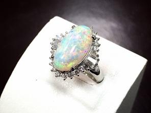 オパールダイヤモンドリング PT900 5.95ct 11.3g 宝石高額買取