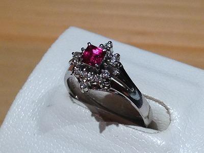 ルビー(RUBY) 指輪 リング プラチナ ダイヤモンド(DIAMOND)