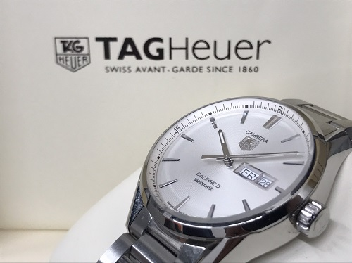 タグホイヤー TAGHEUER カレラキャリバー5デイデイト WAR201B 時計買取 渋谷