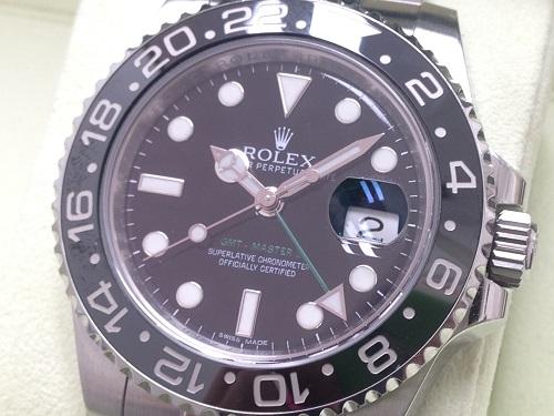 ロレックス(ROLEX) GMTマスターⅡ 116710LN ランダム品番 保証書有 出張買取