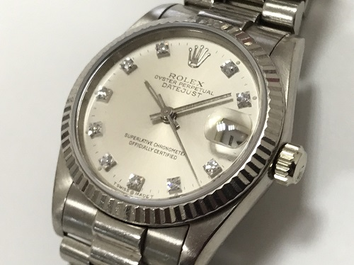 ロレックス(ROLEX)デイトジャスト 750ホワイトゴールド 68279G ダイヤモンドインデックス