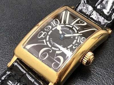 FRANK MULLER フランクミュラー ロングアイランド 750 革ベルト 802QZ 腕時計 高価買取 七条店