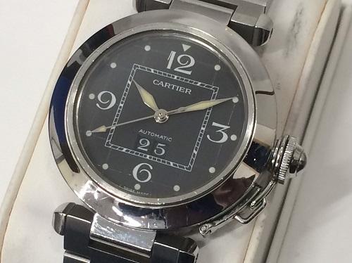 カルティエ Cartier パシャC ビッグデイト 2475 SS 買取 銀座