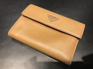 PRADA プラダ コンパクト財布 サフィアーノ ブランド品買取