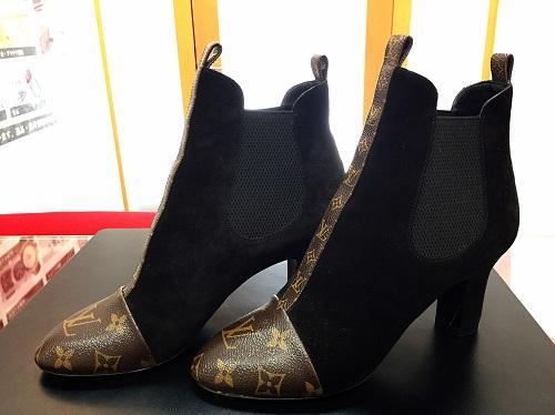 ルイヴィトン(LOUIS VUITTON)レディースショートブーツ スエード モノグラム 靴