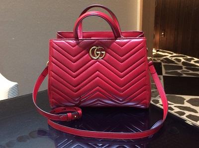 グッチ GGマーモント 448054 赤 トップハンドバッグ 新作モデル