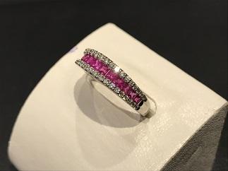 ルビー ダイヤモンド リング 指輪 ジュエリー プラチナ買取 福岡 天神 博多 質屋 高い