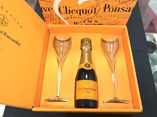 ヴーヴクリコ シャンパン ピッコロセット シャンパン グラス