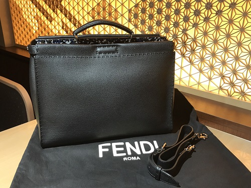 フェンディ FENDI ピーカブー セレリア ブラック レザー メンズ 買取 渋谷