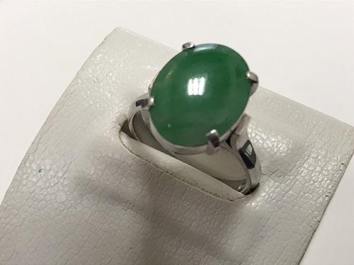 翡翠 指輪 プラチナ Pt900  宝石