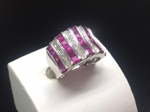 ルビー 4.34ct ダイヤモンド 0.11ct K18 8.4g 宝石 出張買取