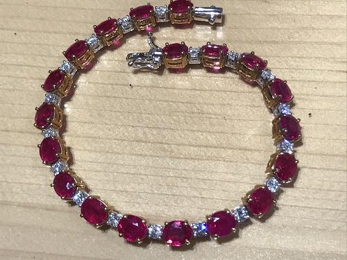 ルビー(RUBY) ブレスレット ダイヤモンド(DIAMOND) 宝石 ジュエリー