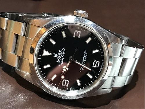 ロレックス(ROLEX) エクスプローラー1 14270 腕時計 メンズウォッチ スポーツモデル 横穴あり