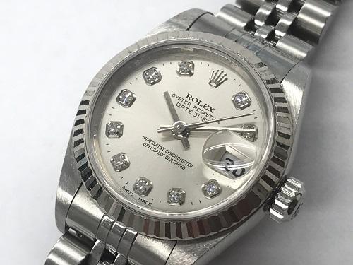 ロレックス(ROLEX) デイトジャスト 79174G ダイヤモンドインデックス レディース時計