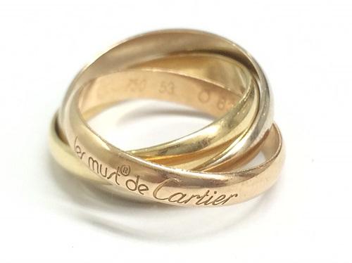 カルティエ(CARTIER)トリニティリング 指輪 750 サイズ53 ジュエリー 貴金属 北山店 上賀茂 左京区