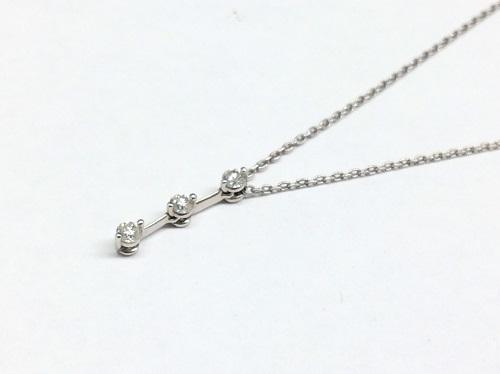 スタージュエリー(STAR JEWELRY) ダイヤネックレス Pt950 0.15ct 2.7g 北山 買取