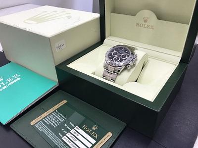 ROLEX ロレックス デイトナ Ref.116520 黒文字 腕時計 高価買取 七条店