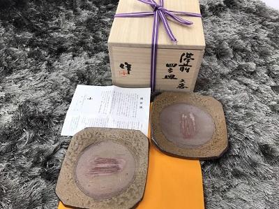 骨董品 稲荷 作 備前焼 皿 6枚 骨董品買取 三宮 元町 神戸