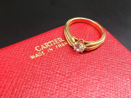 カルティエ(Cartier) スリーカラーダイヤリング 750 4.3g 保証書無 宅配買取