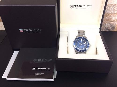 タグホイヤー(TAGHEUER)買取 アクアレーサー ステンレス 付属品完備 ブランド時計買取 京都北山店 下鴨 一乗寺
