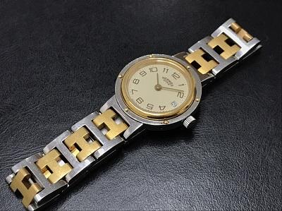 HERMES エルメス クリッパー GP×SS 腕時計 レディース 高価買取 宅配買取