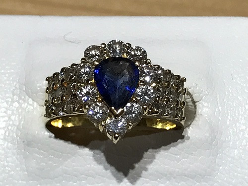 指輪 ダイヤモンド(DIAMOND) サファイア(SAPPHIRE) リング 金 ゴールド K18 ジュエリー 宝石